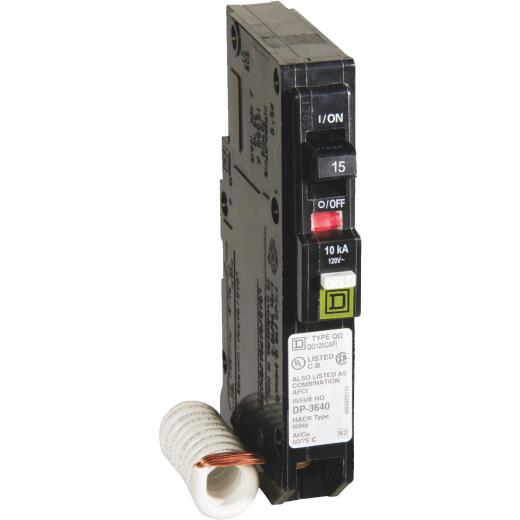 Square D QO 15A Single-Pole CAFCI Combination Arc Fault Breaker