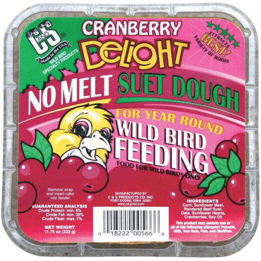 C&S 11-3/4 Oz. Cranberry Delight Suet Dough