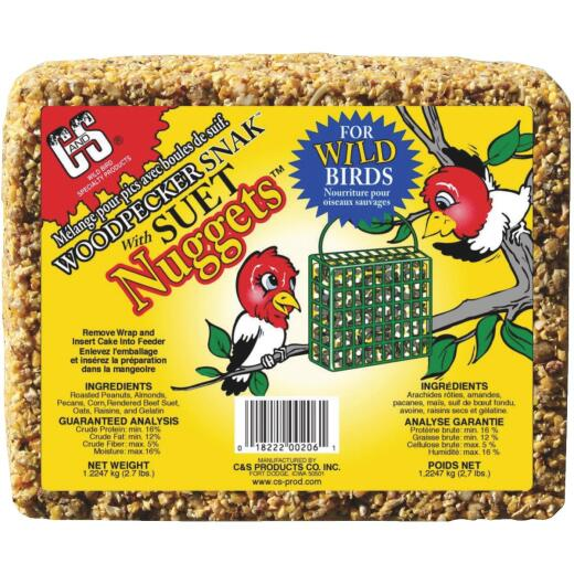 C&S Nuggets 2.4 Lb. Woodpecker Suet